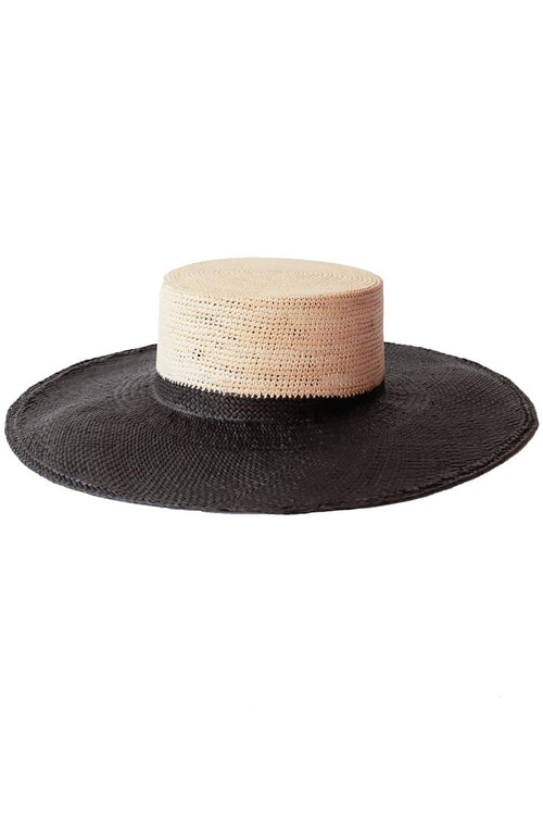 Janessa Leone Nomie Hat in Black/Natural