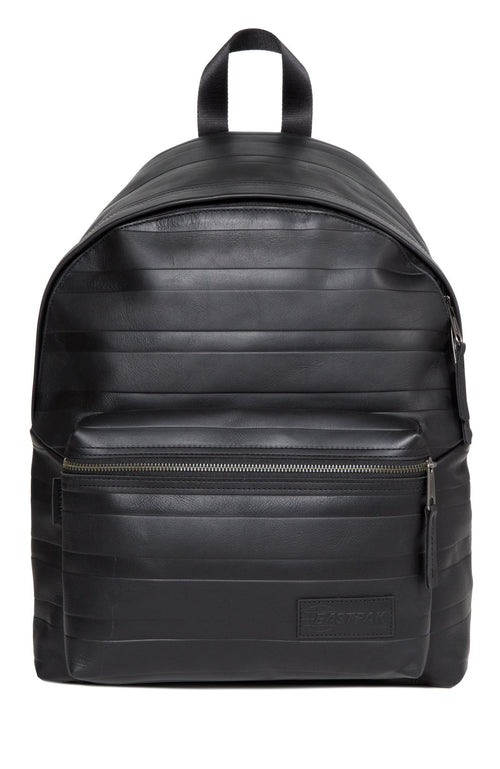 Eastpak Leather Embossed LinesPadded Pak'r Backpack in Black at Ron Herman