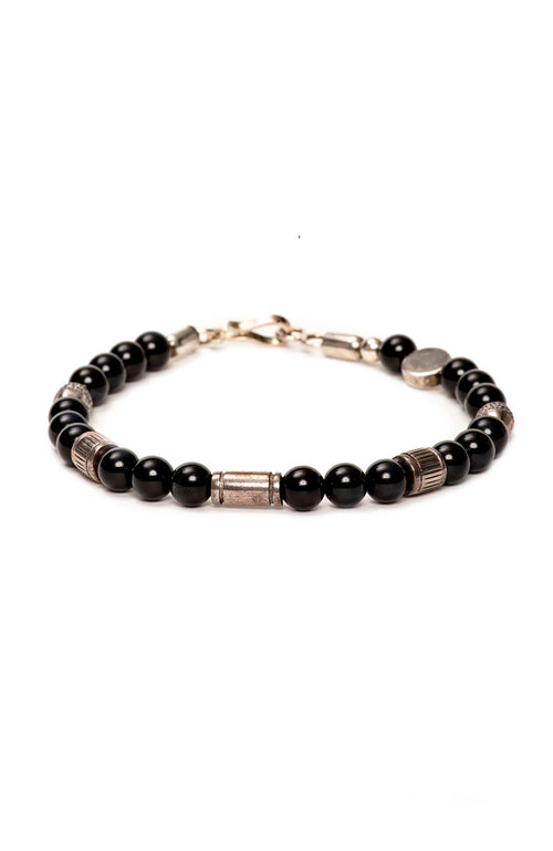 Caputo & Co. Prosperity Bead Bracelet in Black at Ron Herman