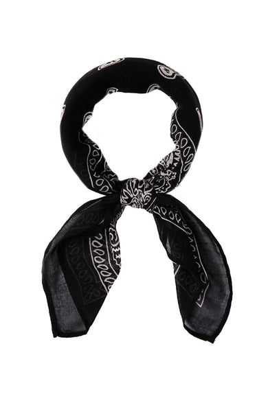 Chan Luu Bandana Print Neckerchief in Black