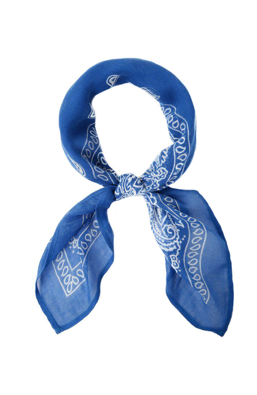 Chan Luu Bandana Print Neckerchief in Palace Blue