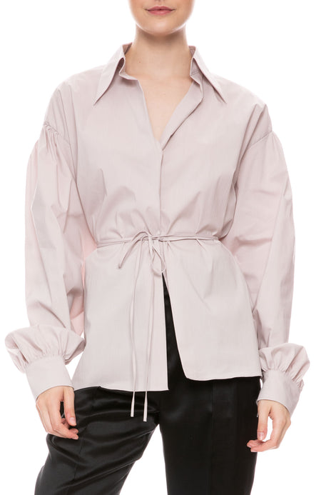 Convertible Wrap Poplin Top