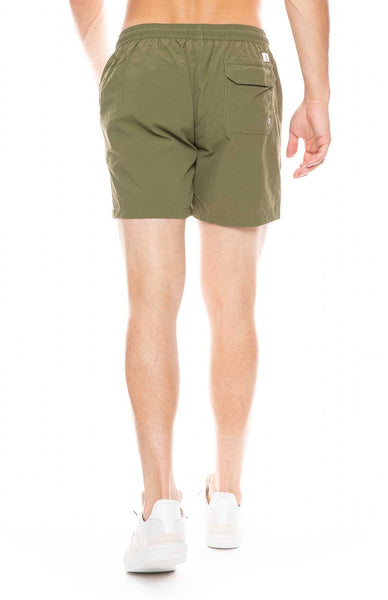 Swim Shorts with Contrast Cord