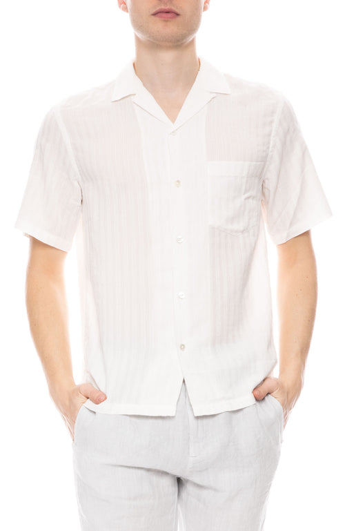 Canal Tonal Stripe Short Sleeve Shirt