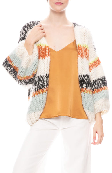 Jane Stripe Knit Cardigan