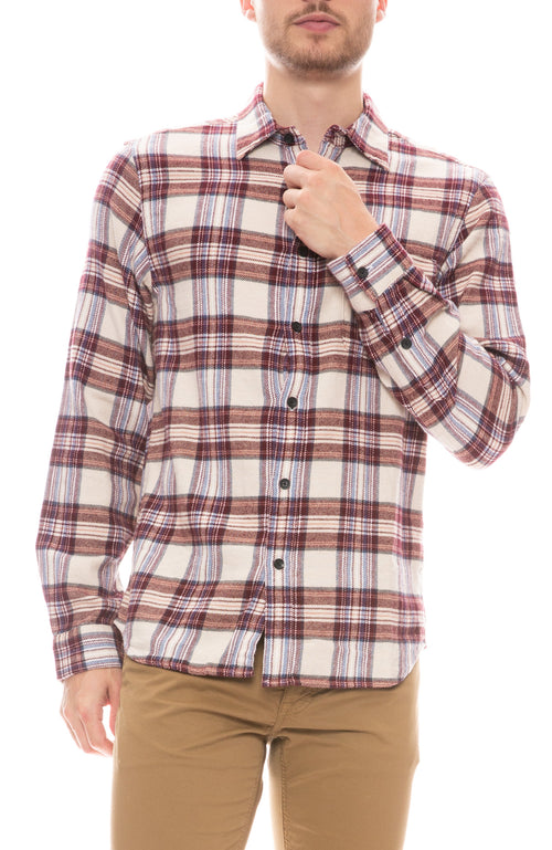 Plaid Patch Pocket Flannel Shirt