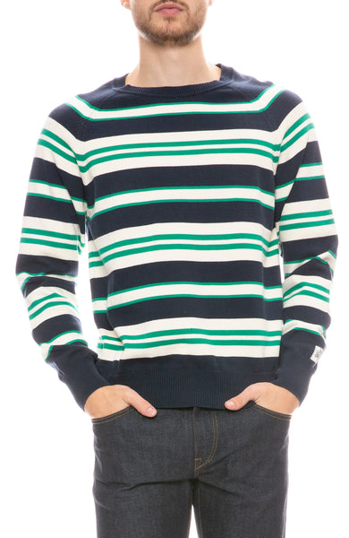 Stripe Cotton Pullover Sweater