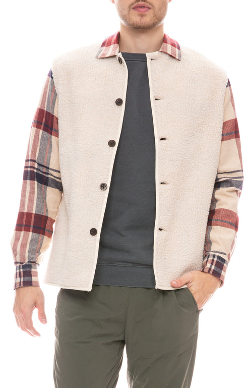 Oversize Plaid Shirt Jacket