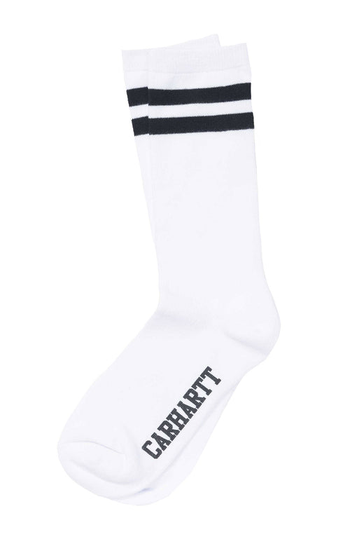 Carhartt WIP  Mens Black and White College Socks at Ron Herman