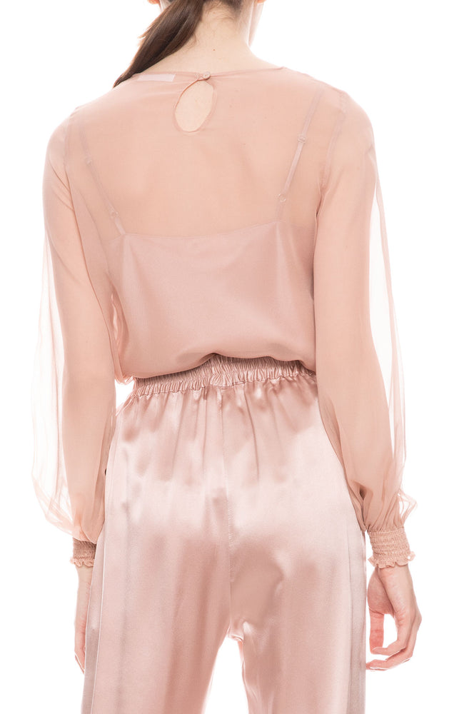 Cora Sheer Silk Top