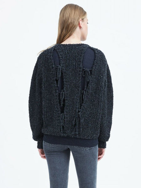 Crecent Tie Back Sweater