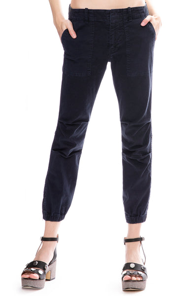 Nili Lotan Cropped Military Pants in Dark Navy