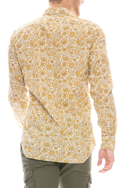David Liberty Foliage Print Shirt