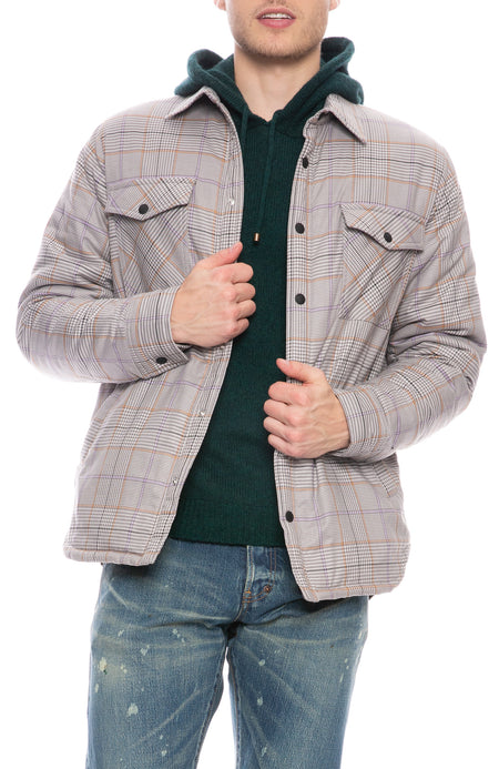 John Padded Plaid Overshirt