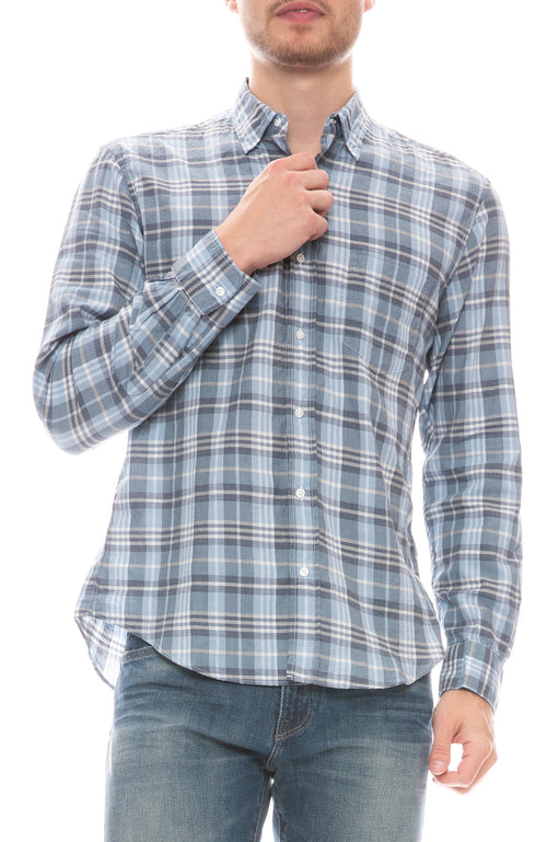 Don Brushed Cotton Button Down Shirt