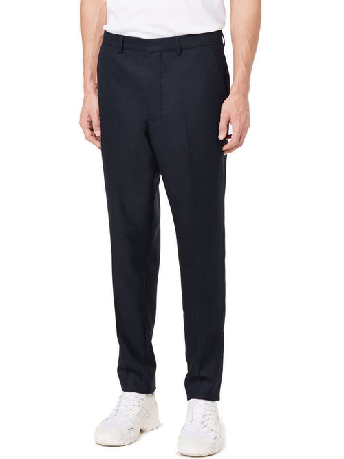 Carrot Fit Textured Trousers