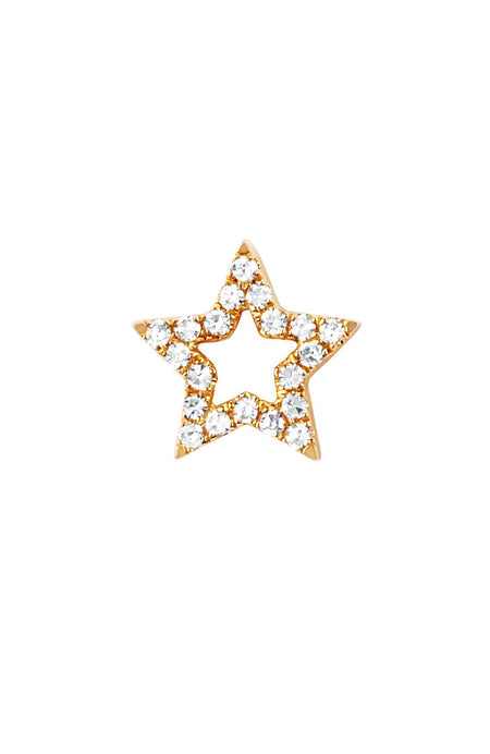 Open Diamond Star Stud