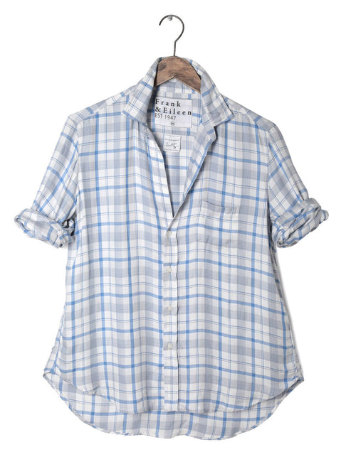 Womens Eileen Italian Modal Plaid Shirt