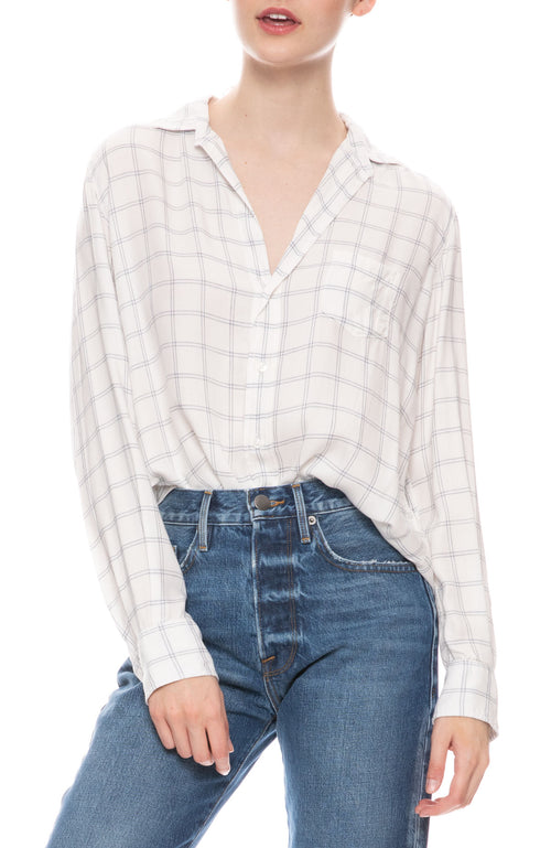 Eileen Modal Grid Button Down Shirt