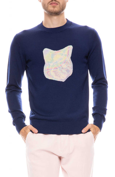 Fox Head Printed Sweater