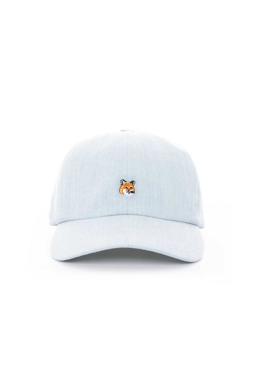 Cap with Embroidered Fox