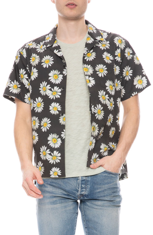 Bowling Shirt with Daisy Print
