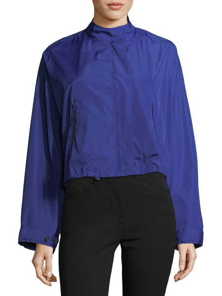Technical Zip-Front Cropped Anorak Jacket