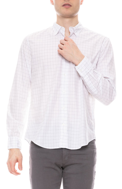 Finbar Cotton Windowpane Shirt