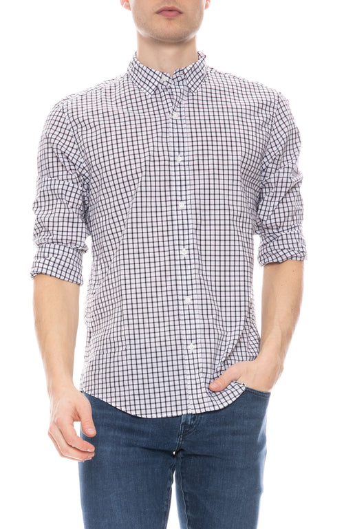 Finbar Cotton Grid Shirt