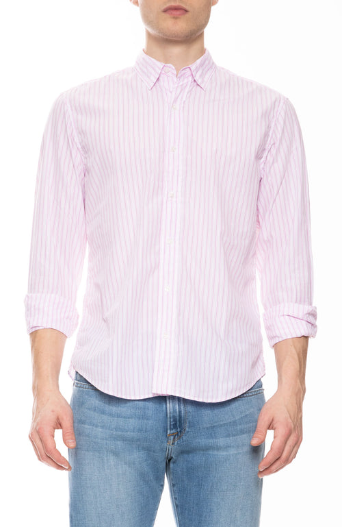 Finbar Cotton Multi Stripe Shirt