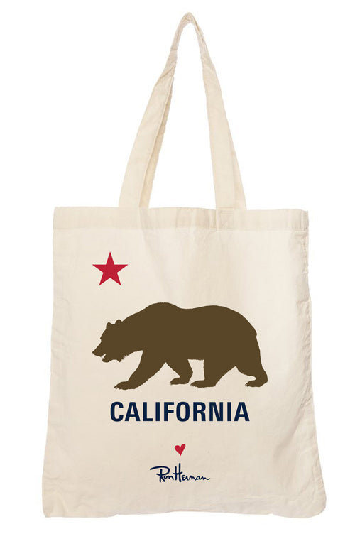 Ron Herman Exclusive California Bear Canvas Tote Bag