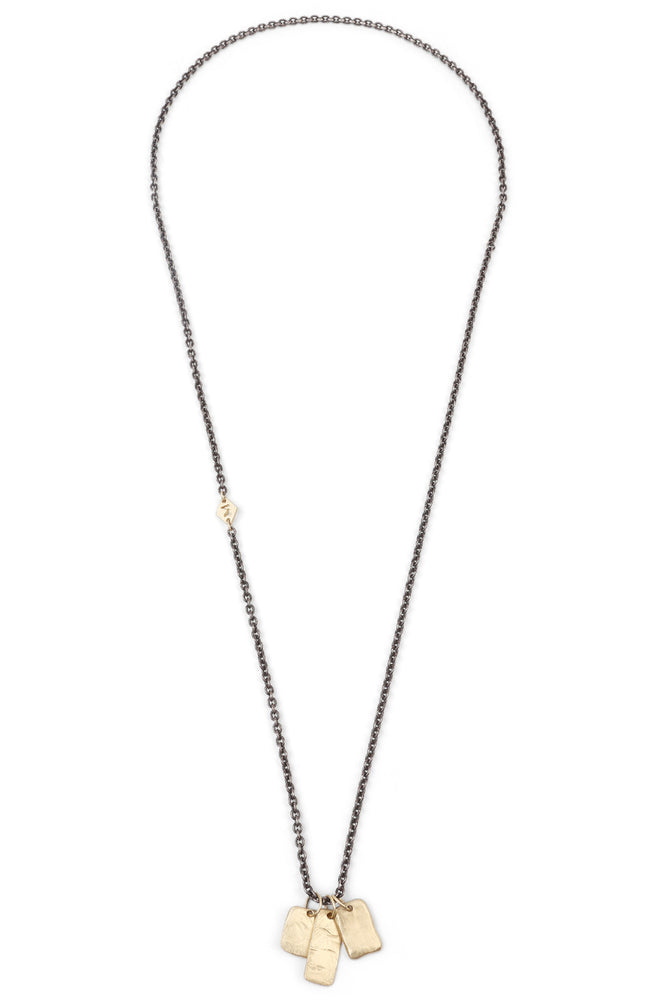 Tags Oxidized Chain Necklace
