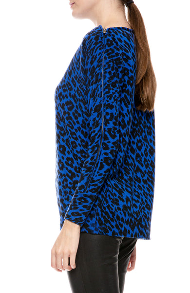 Zip Me Up Leopard Sweater