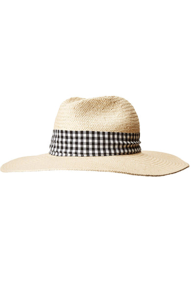Hat Attack Lucia Sunhat with Gingham Ribbon