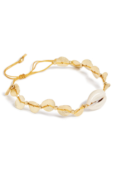 Chan Luu Sequin and Cowry Shell Pull-Tie Bracelet