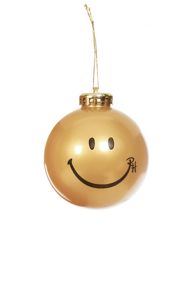 Ron Herman Exclusive Gold Happy Face Ornament