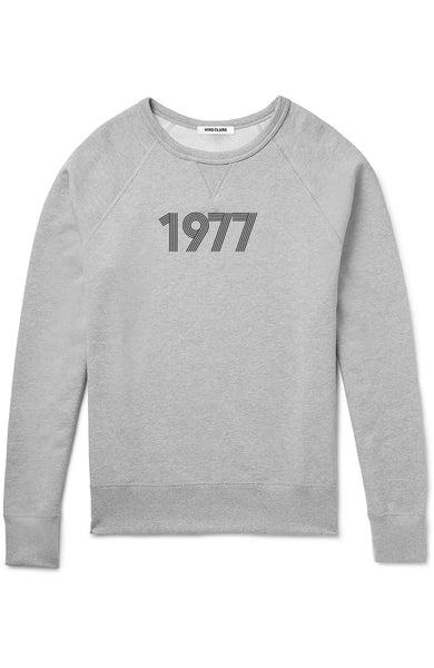 Jim Moore x Hiro Clark 1977 Crew Sweatshirt in Grey