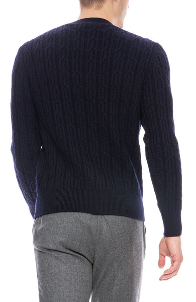 Merino Cable Knit Sweater