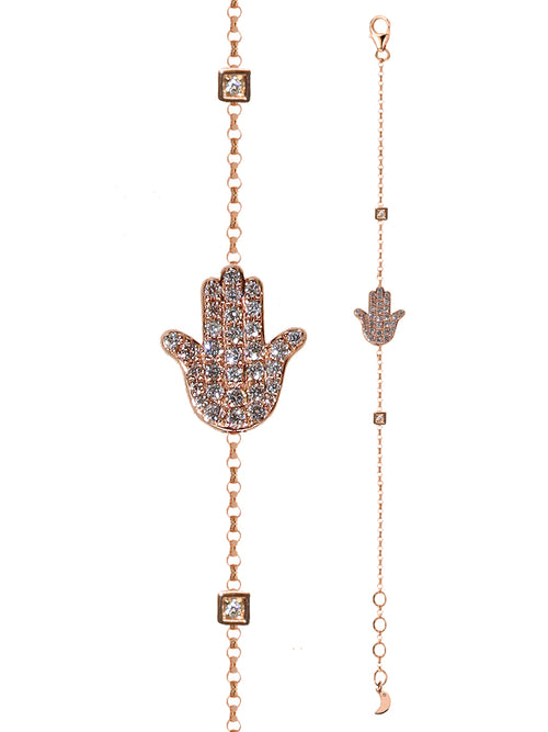 Hamsa Double Sided Diamond Bracelet