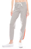 Vintage Sweatpants with Contrast Side Stripe