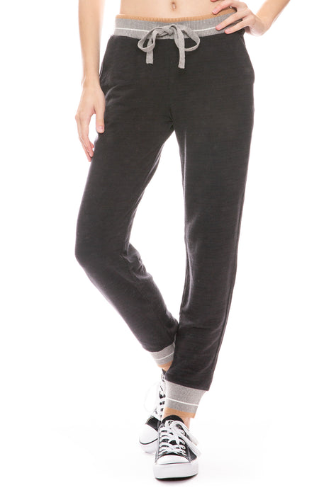 Sporty Sweatpant with Stripe Band