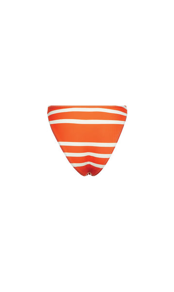 High Rise Bottom in Rich Orange Stripe
