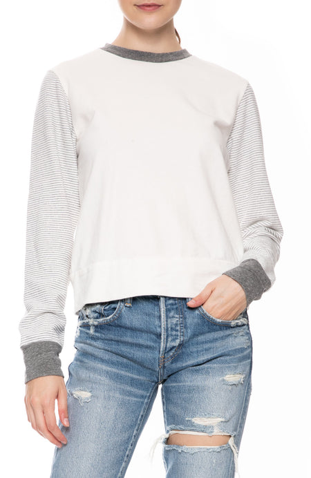 Stripe Sleeve Sweatshirt