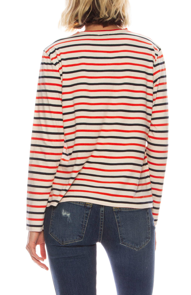 The Modern Long Sleeve Stripe Tee
