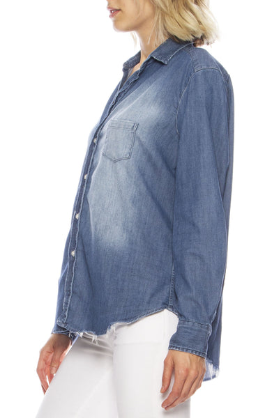 Eileen Stonewashed Denim Shirt