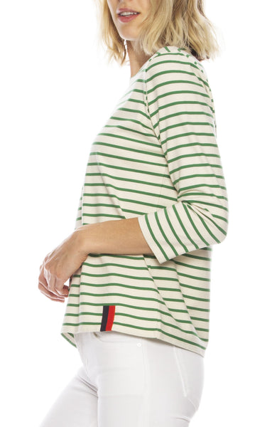 The Classic 3/4 Sleeve Stripe Tee