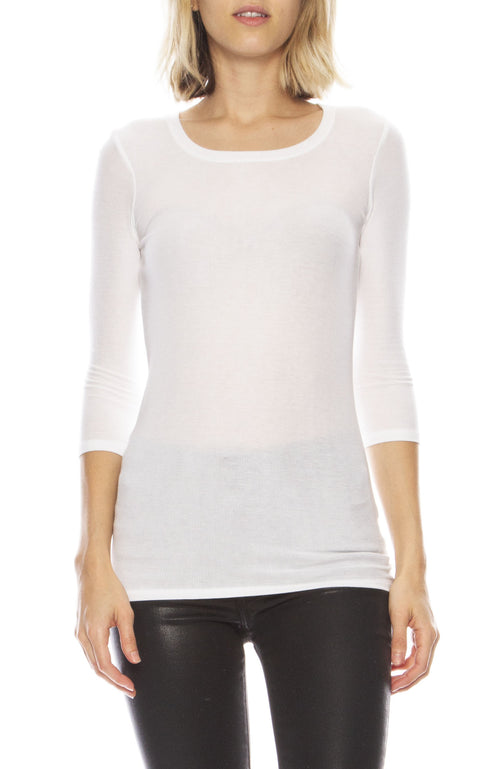 Jackie Three Quarter Sleeve Top