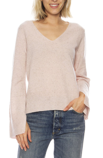 Slit Sleeve Speckled Sweater