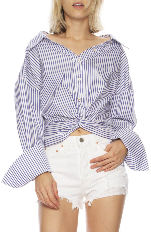 Kos Striped Cotton Top