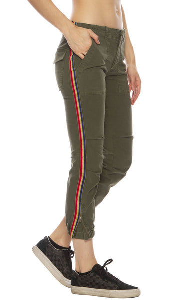 Crop French Military Pant with Tape